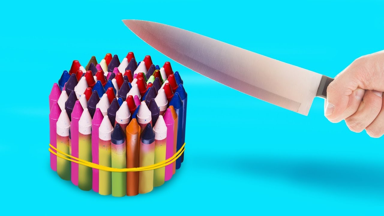 15 LIFE HACKS WITH CRAYONS