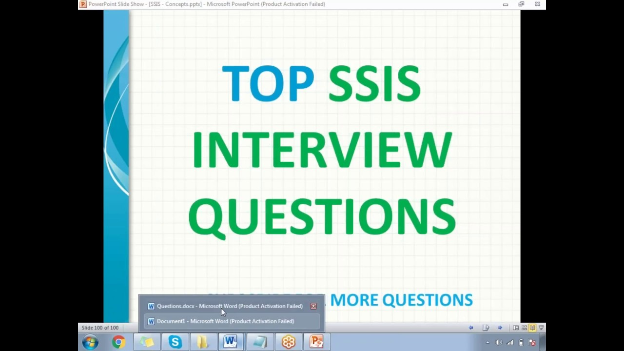 TOP SSIS Interview Questions Part 1