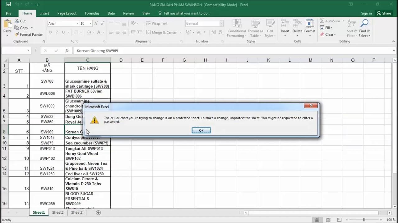 Hướng dẫn cách tạo file excel không cho copy, chỉnh sửa