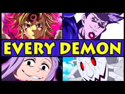 Every Demon RANKED from Weakest to Strongest! (Seven Deadly