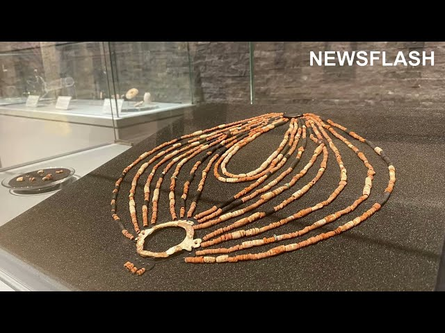 Ornate Bead Necklace Found In 9000 Year Old Tomb Of Young Girl