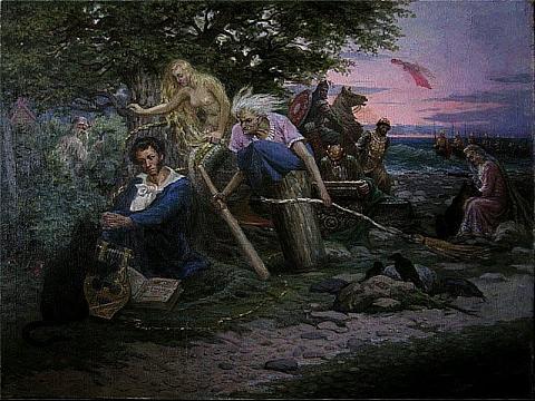 А.С.Пушкин. Сказка о царе Салтане. Лукоморье