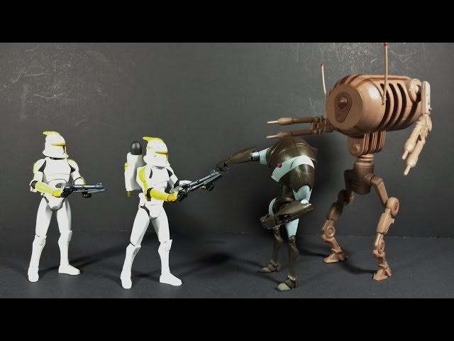 Clone Troopers and Droids Battle Pack (2010) -Action Figure Review