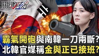 霸氣開砲與南韓「一刀兩斷」軍事行動? 北韓官媒稱「黨中央」金與正已接班!?【關鍵時刻】20200615-6 劉寶傑 王瑞德