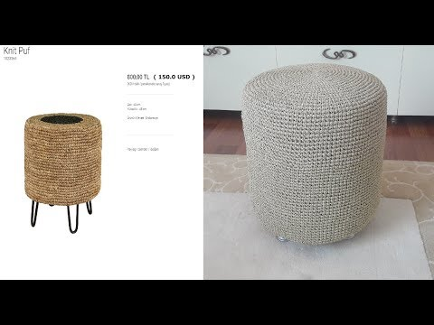 DIY homemade ottoman seat under 10 usd  , pouf,