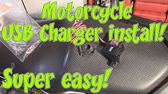 Installing Motorcycle USB Charger! Super easy!
