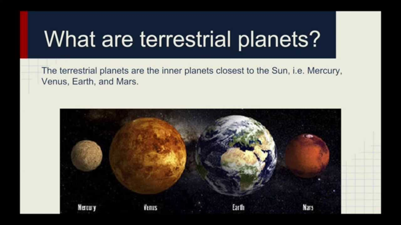 astronomy terrestrial planets YouTube