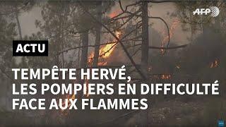 Tempête Hervé en Corse: les pompiers bataillent contre le feu, 1.100 hectares brûlés | AFP News