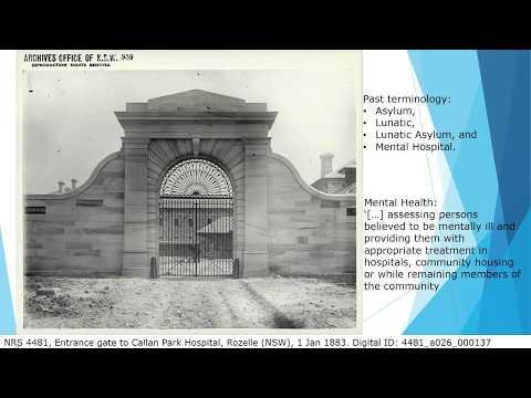 Webinar: Asylum records in NSW