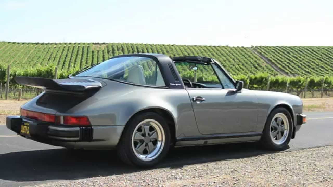 1987 Porsche 911 Carrera Targa Grey Youtube