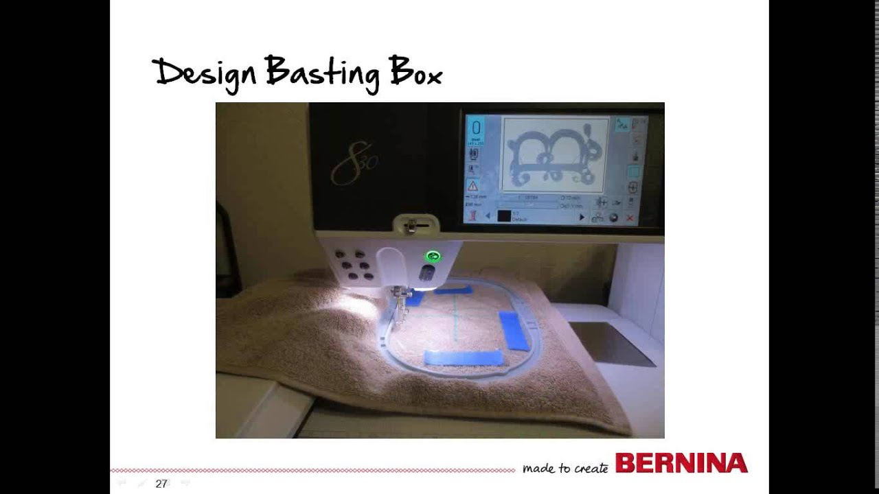 Bernina embroidery tool tip embroidery on towels youtube