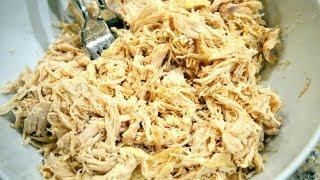 Easy, Healthy, Shredded Crockpot Chicken Recipe