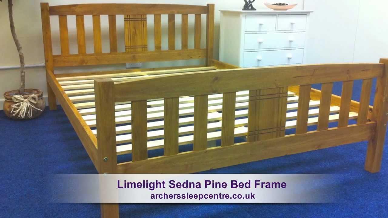 limelight sedna pine bed frame