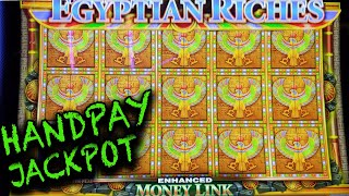 My 1st HANDPAY JACKPOT EVER on Egyptian Riches Slot Machine in Vegas!