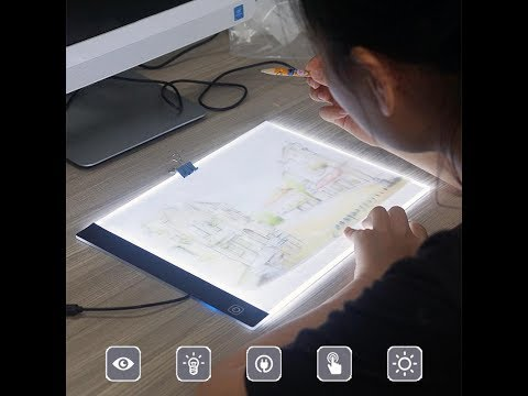 A4 LED Light Box Drawing Board Art Stencil Tracing Copy Table