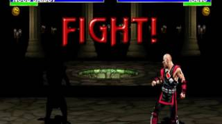 #399 Ultimate Mortal Kombat 3 (ARC) Unplayable Character: Noob Saibot gameplay.