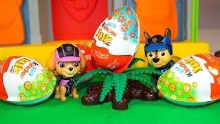 Мультики для детей Щенячий патруль Щенки и Пасхальные яйца Киндер Сюрпризы Мультфильмы