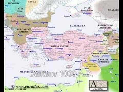 Historical maps of the Balkans 1 AD  2000 AD  YouTube