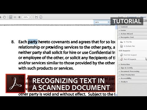 Recognizing Text in Scanned PDF Documents