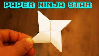 How to Make a Paper Ninja Star (Shuriken) - Origami