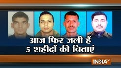Tributes to Martyr Capt Tushar Mahajan and 3 Others Killed in Pampore Encounter