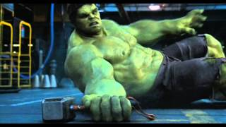 Hulk trying to lift Thor's hammer thumbnail