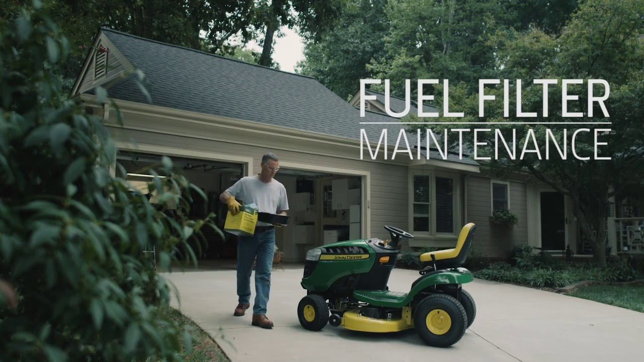 how to change fuel filter | john deere d100 lawn tractor maintenance -  youtube