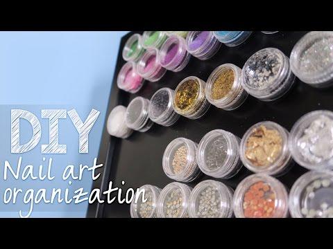 DIY Nail Art Organization // How to Make a Glitter Organizer