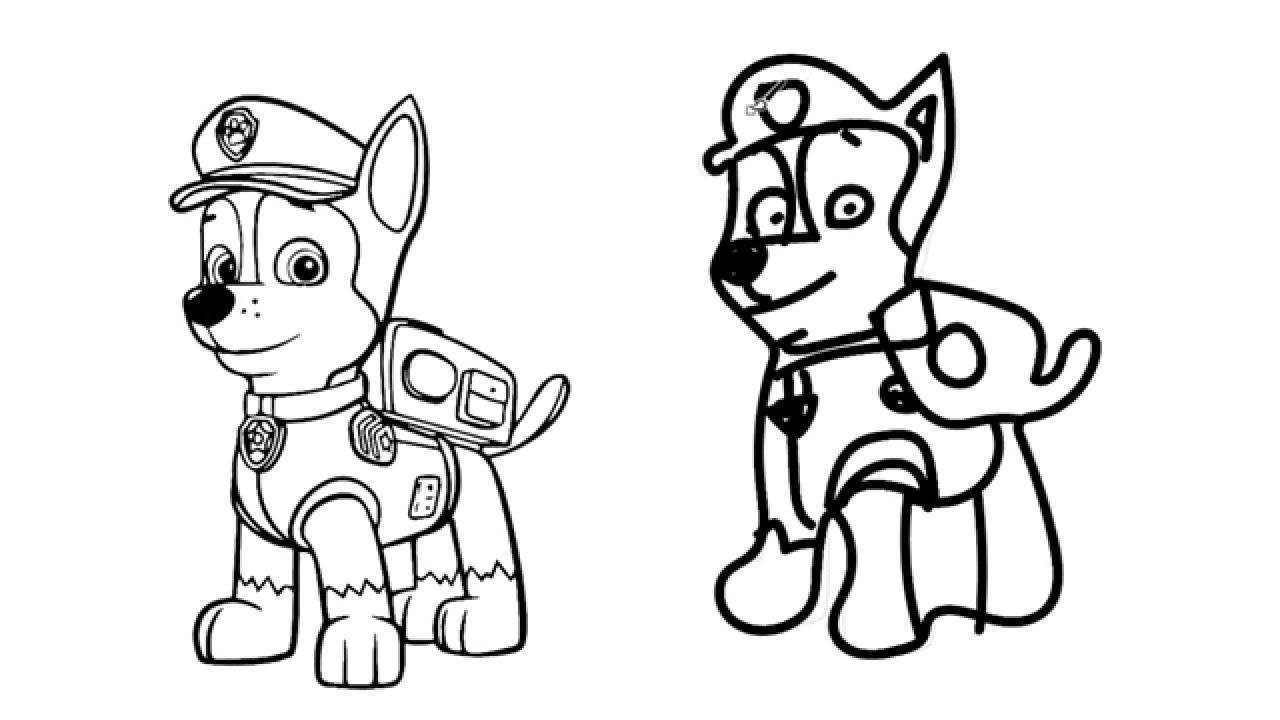 Como Dibujar A La Patrulla Canina Youtube