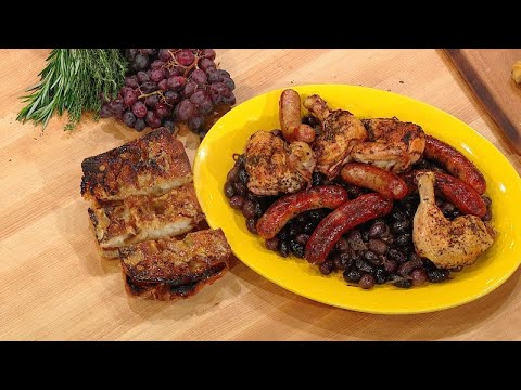 Roast Chicken and Sausage with Grapes and Olives  Rachael Ray