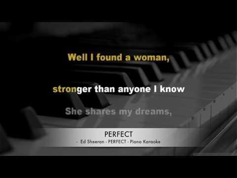 Ed Sheeran - Perfect - Karaoke lyrics PIANO HQ