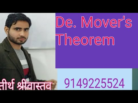 De Moviers Theorem All Case In One Part By Tirth Shrivastva