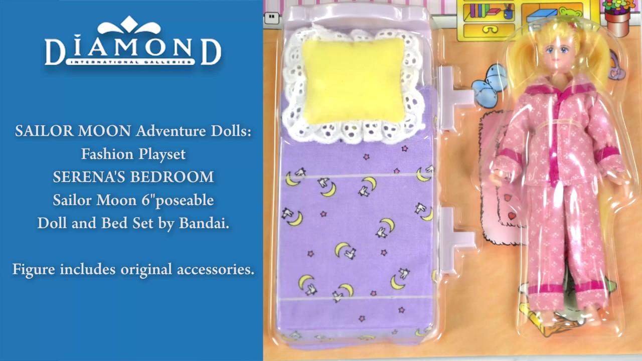 Sailor Moon Fashion Playset Serena S Bedroom 6 Inch Doll By Bandai