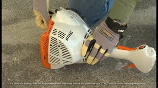 STIHL FS 40 C-E Trimmer - How to Unflood