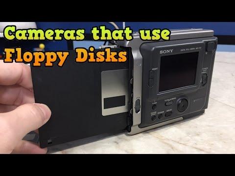 Back when cameras used. Floppy Disks?  Sony Mavica