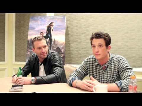 Divergent Cast Interview With Miles Teller & Jai Courtney