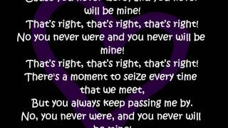 Rye Rye ft. Robyn-Never will be mine-Lyrics