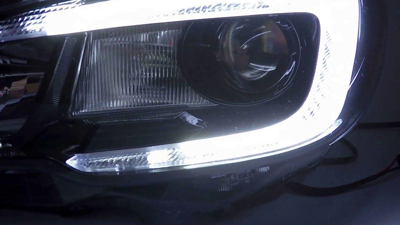 Morimoto XSB C-Light Strip and Demon Eyes - 2015 Subaru STi