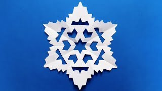 Paper Snowflake. Easy Tutorial. Make snowflakes out of paper. Easy for kids to make