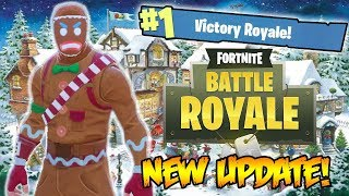 NEW FORTNITE CHRISTMAS UPDATE - NEW SKINS, SNOWBALL LAUNCHER, & SEASON 2! (Fortnite Battle Royale)