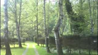 vanaf het terras over de camping naar de Ourthe