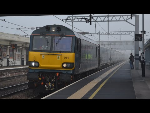 Caledonian Sleeper 92014 Glides Past Peterborough With *BRAND NEW* Mk5 Coaches 29/4/19