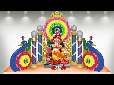 How to make eco friendly Ganesh decoration at home
