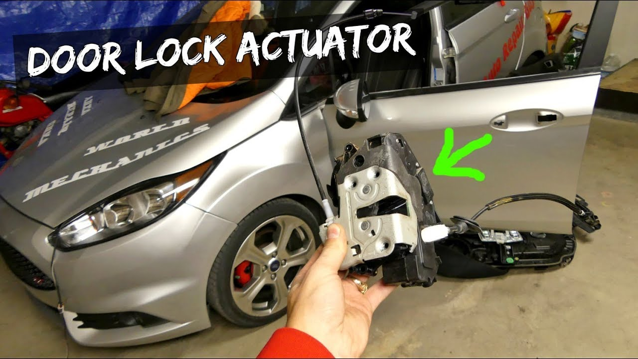 FORD FIESTA MK7 FRONT DOOR LOCK ACTUATOR REMOVAL REPLACEMENT