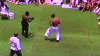 Marc Allen in a Martial Arts Demo on USS Acadia 1992