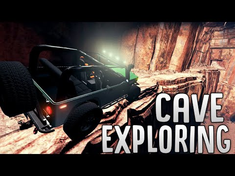 Off-Roading In The Dangerous Caves of Utah - New Update And Crash Test Dummy! - BeamNG Drive