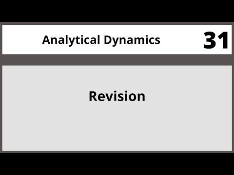 Analytical Dynamics in Hindi Urdu MTH382 LECTURE 31