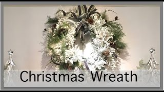 Christmas Decorating 2016  | Wreath above the Fireplace