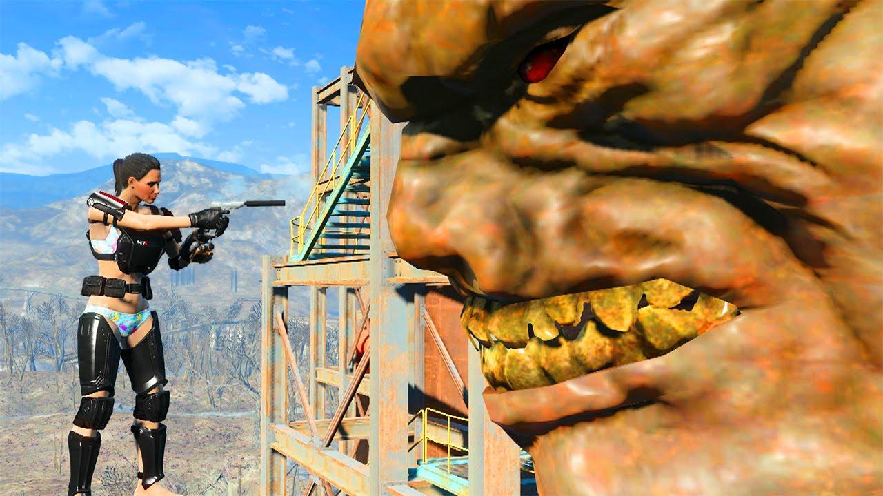 Fallout 4 Giant Monster Location Easter Egg Youtube
