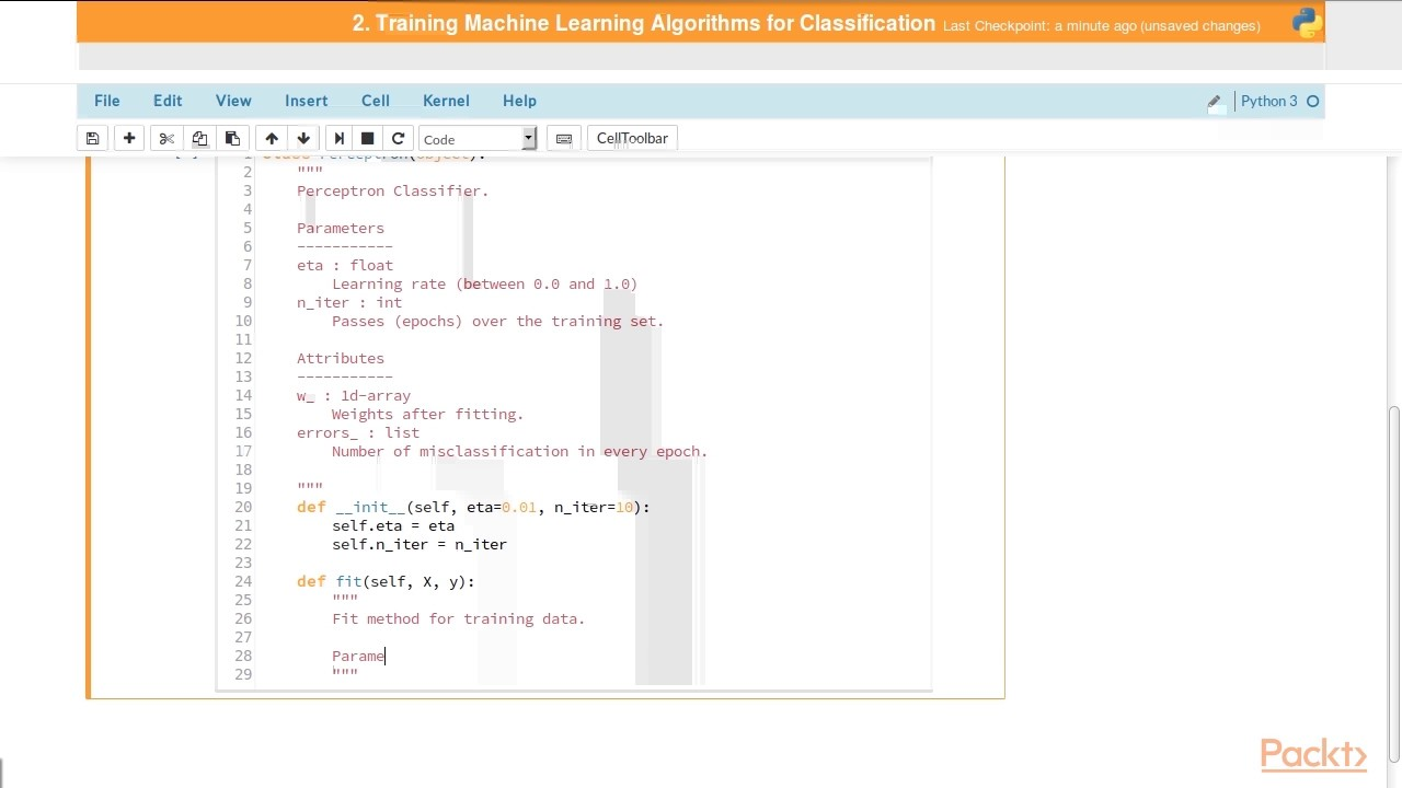 Python Machine Learning - Part 1 : Implementing a Perceptron Algorithm in  Python | packtpub com